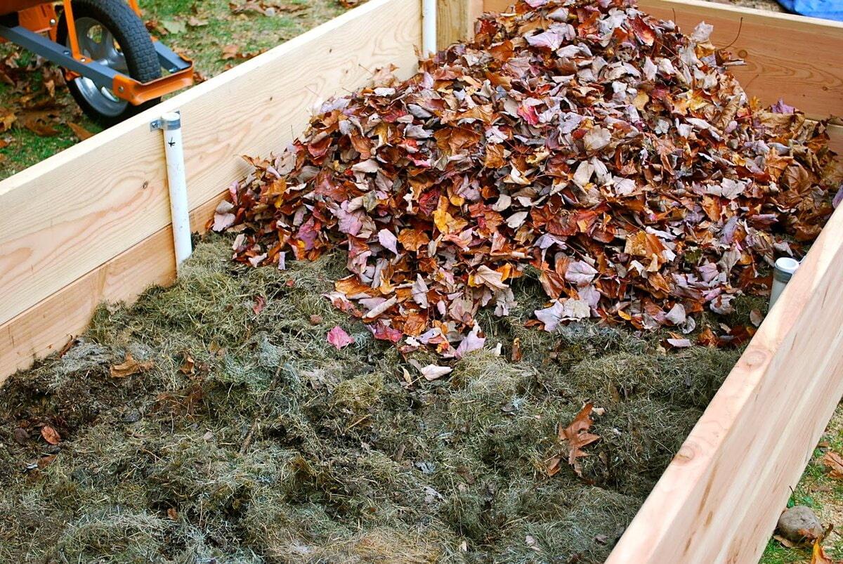 Листья для теплых грядок