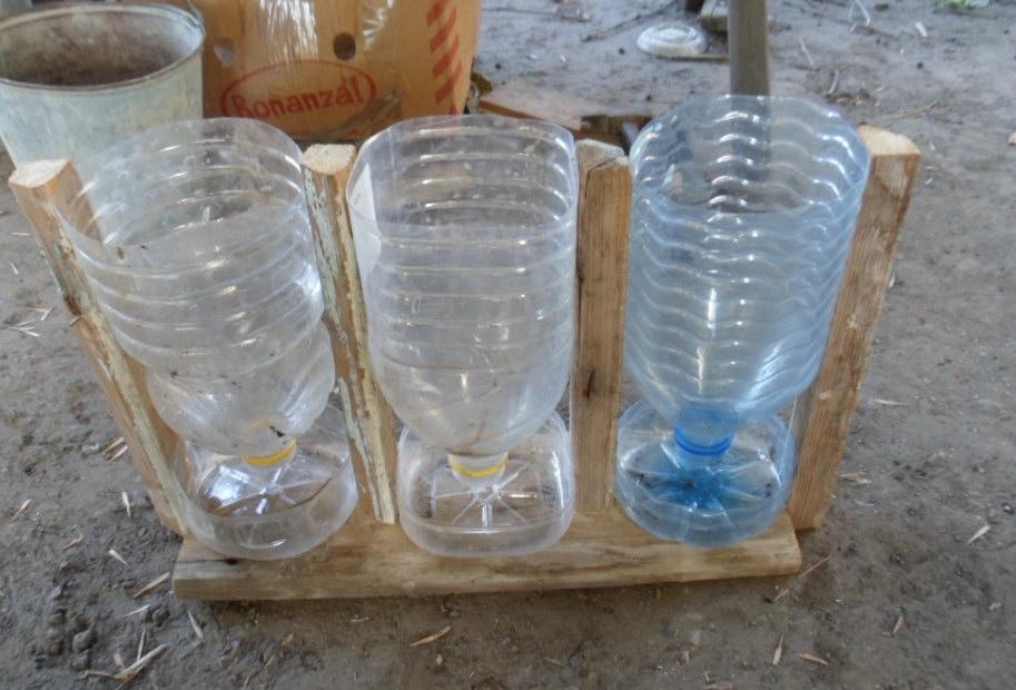 Поилки для перепелов из бутылок