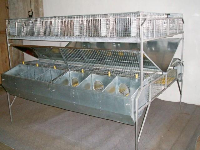 Пример клеток для содержания кроликов