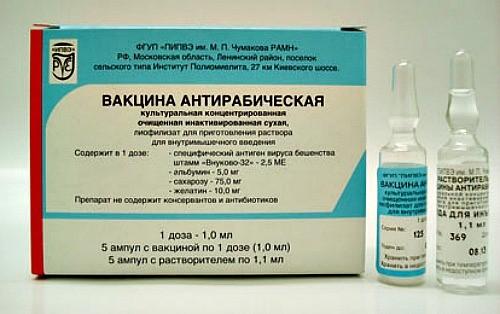 Для иммунизации животных используют антирабические вакцины
