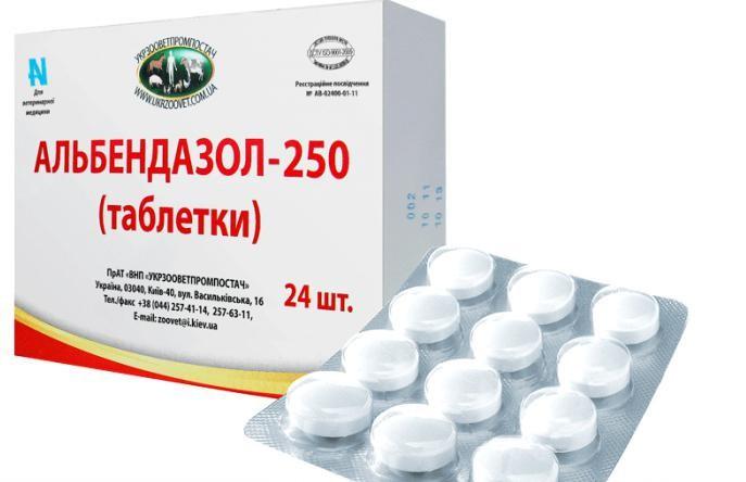 Альбендазол — комплексный противоглистный ветпрепарат