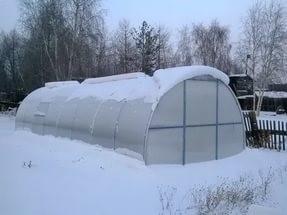 Поликарбонатная теплица, в которой можно содержать зимой кроликов