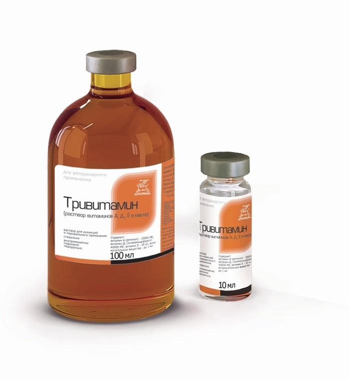 Тривитамин П для птиц, животных