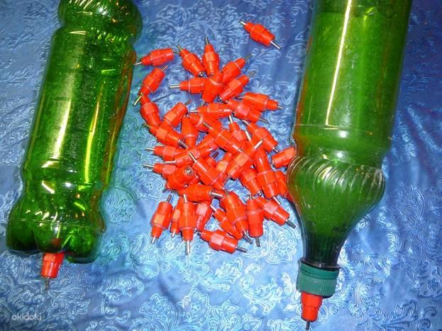 Самодельные ниппельные поилки из пластиковых поилок
