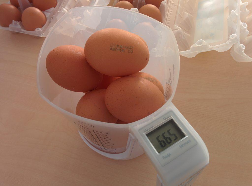 Вес яиц